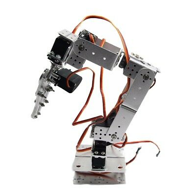 ROT2U 6DOF Aluminium Robot Arm Mechanical Robotic Clamp Claw Silver For Arduino