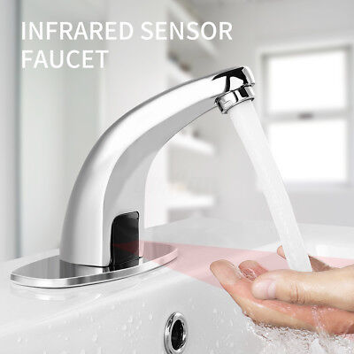 Automatic Handsfree Infrared Sink Mixers Basin Faucet Water Sensor Tap Bathroom