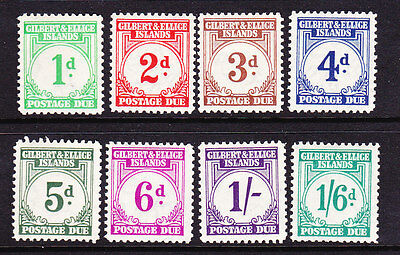 Gilbert & Ellice Is 1940 Postage Due Set 8 Mlh Sg D 1/8