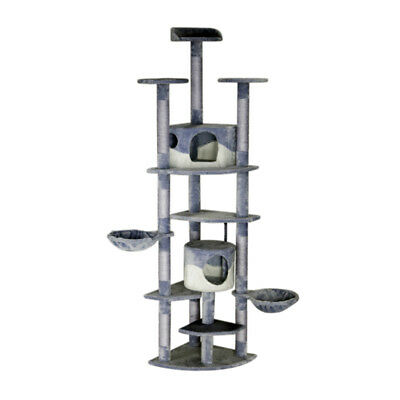 Cat Tree Scratching Post Gym Condo Furniture Scratcher Poles 240cm Gray