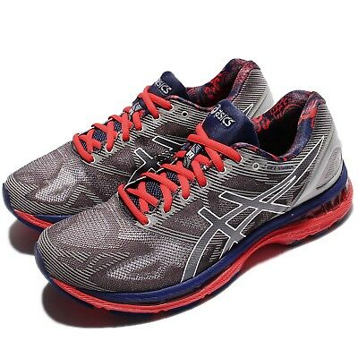 Asics Gel-Nimbus 19 Lite-Show Grey Navy Men Running Shoes Sneakers T704N-9701