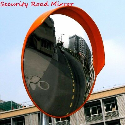18''/45cm Wide Angle Security Curved Convex Road Safety Mirror Traffic Driveway