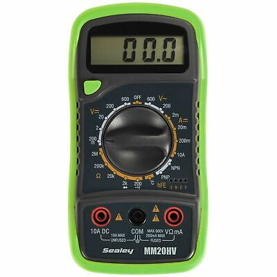 Sealey Tools Digital Multimeter 8 Function With Thermocouple Hi-Vis - MM20HV
