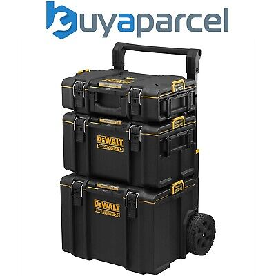 Dewalt DS450 Toughsystem Rolling Mobile Tool Storage Box Trolley + DS300 + DS150