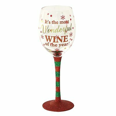 Christmas Wine Glass Most Wonderful Wine of the Year