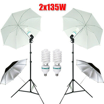 Photography Photo Umbrella Video Continuous Light Lighting Stand Kit Shooting AU