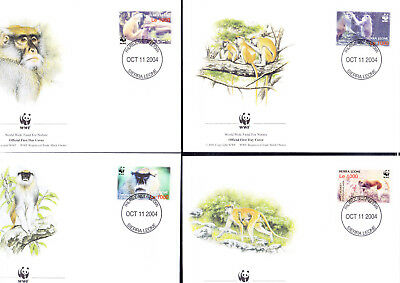 053592 WWF Affen Monkey Sierra Leone FDC First Day Cover ´s
