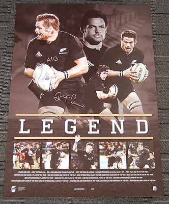 Richie Mccaw New Zealand All Blacks Hand Signed Legend Retirement Print