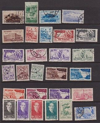 SYRIA 1953-1958 forty-four used inc. 1956 air set