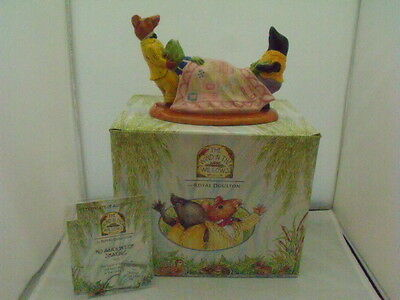 Royal Doulton Wind In The Willows 'no Amount Of Shaking' Boxed Certificate & Tag