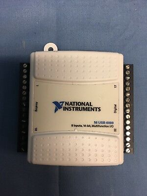 National Instruments NI USB-6009 Low-Cost Multifunction, 8 Inputs, 4-Bit Tested