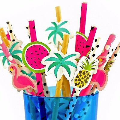 20 Novelty Cocktails Straw Paper Parasol Umbrella Drink Decoration Crazy Fun Set
