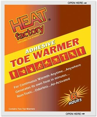 Heat Factory 1945 Adhesive Toe Warmer 6 Hour Pack of 2