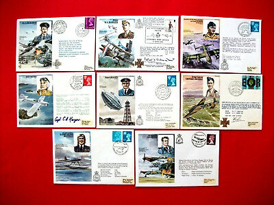 8 Royal Air Force Museum First Day Covers - 1977-1978