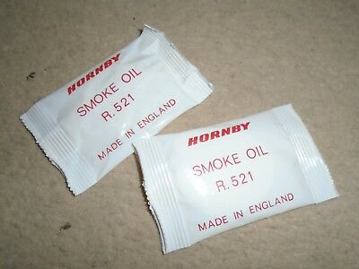 Pair of New R521 Smoke Oil Sachets for Hornby OO Gauge Train Sets