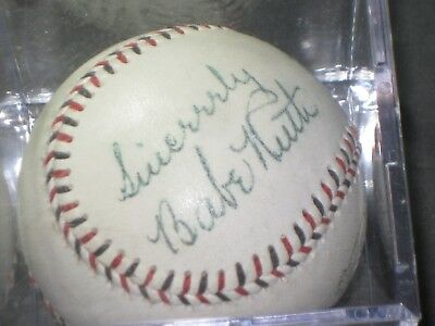 BABE RUTH Signed Baseball New York Yankees Memorabilia NICE Auto READ LISTING