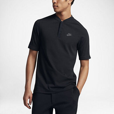 Nike Sportswear Bonded Men's Polo L XL Black Gym Casual Shirt Training Top New