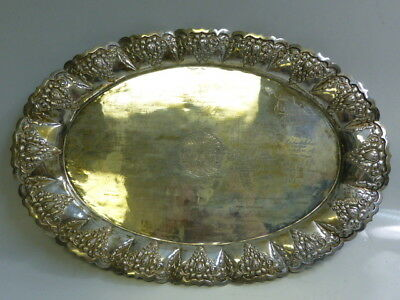 800 Silver Tray Diplomatic Corps of Jakarta Token of High Esteem with Signatures