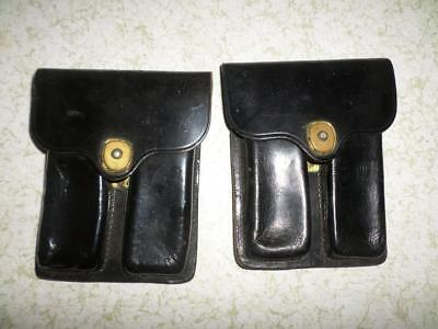 Us Military Black Leather Rockwelt 1960 Pouches Set Of 2 Preowned