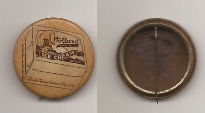 Holland Ice Cream Pinback Button