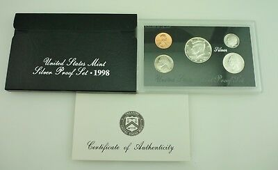 1998 United States Mint 5 Coin SILVER Proof Set ~ 4836~