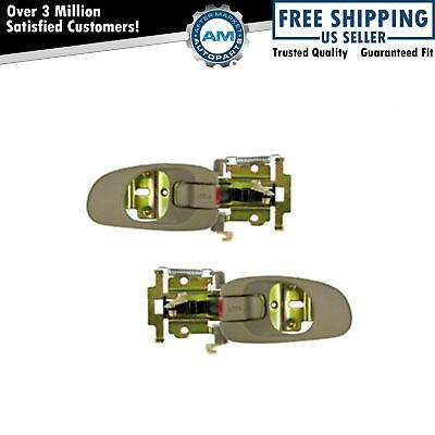 Beige Interior Inside Inner Door Handle Pair Set of 2 For Kia Sephia Spectra