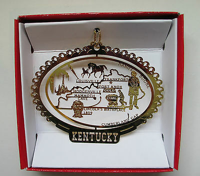 Kentucky Brass State Christmas Ornament