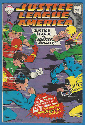 Justice League of America/JLA 56 F/VF 1967 DC Justice League vs Justice Society