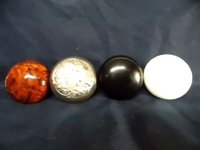 4 different antique DOOR KNOBS porcelain steel ARCHITECTURAL HARDWARE $9.95 nr