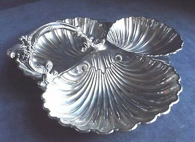 SUPERB Ornate ~ SILVER Plated ~ 3 Section ~ Entree BOWL ~ c1880