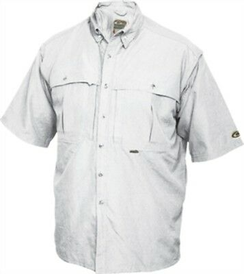 DW260WHT-S Drake Waterfowl Vented Wingshooter's Short Sleeve Shirt White SM