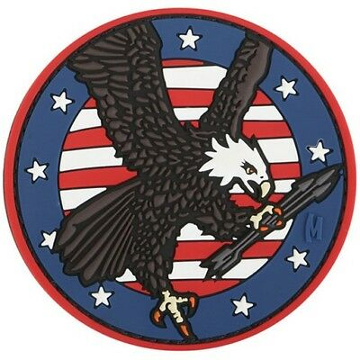 """Maxpedition PVC PATCH:EAGLC American Eagle Morale Patch 3.05"""" Round Full Color"""