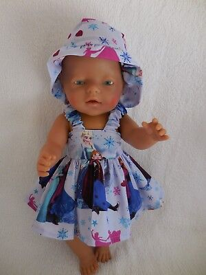 """Baby Born 17"""" Dolls Clothes Purple Frozen  Summer Outfit"""