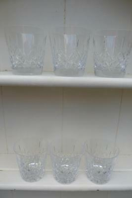 6 Galway Cut Glass Crystal Whisky Glasses Longford Design