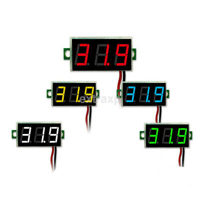 Small DC4.5-30V Red Green Blue LED Digital Diaplay Voltage Voltmeter Panel Meter