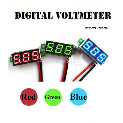 Mini Size 2 Wires DC 4.5V-30V LED Digital Diaplay Voltage Voltmeter Panel Meter