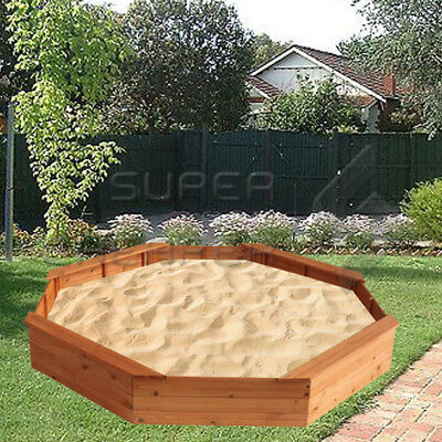 Kids Sandpit Wooden Play Large Round Outdoor Sand Pit Sand Box 1710cm
