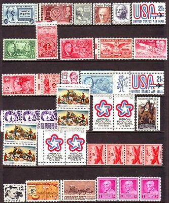 Old Usa  *    Mint Group   1 Page    == 35 +  Stamps