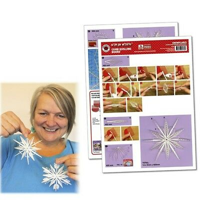 Quilling Template Snowflakes Comb Quilling (ohne Pappe)