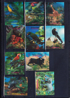 053608 Vögel Birds ... Yemen Kingdom ** MNH Kippbilder Briefmarken