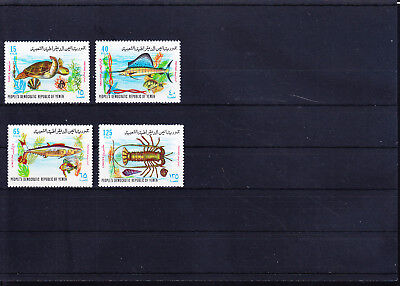 053614 Fische Fish ... Yemen South 130-33 ** MNH Year 1972