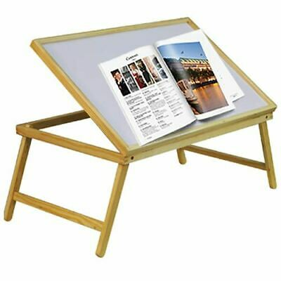 Large Wooden Over Bed Folding Laptop Dining TV Lap Breakfast Serving Table Tray