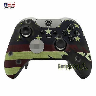 US Flag Repair Mod Top Front Shell Cover Faceplate for Xbox One Elite Controller