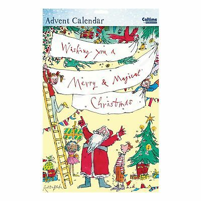 Caltime Character Paper Christmas Advent Calendar - 410994 Quentin Blake