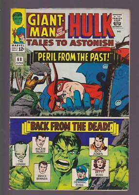Tales to Astonish # 68  Giant-Man !  Incredible Hulk ! grade 6.0 scarce book !