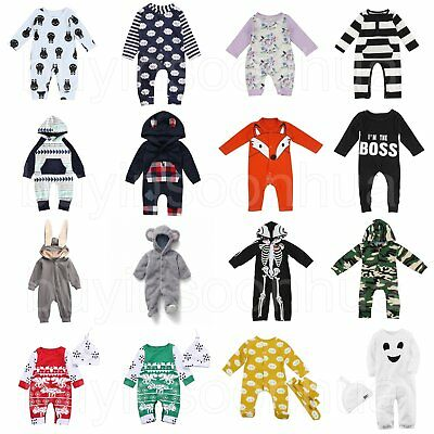 Newborn Infant Baby Boys Girls Romper Jumpsuit Bodysuit Playsuit Clothes Outfits
