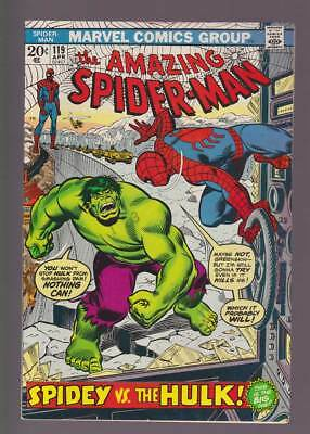 Amazing Spider-Man # 119  Spidey versus the Hulk !  grade 6.5  scarce book !