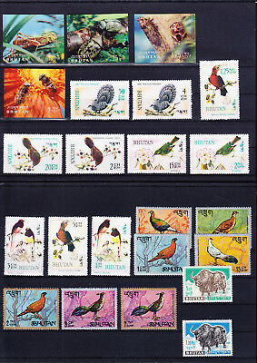 053792 Tiere Animals Bhutan ** MNH - Lot