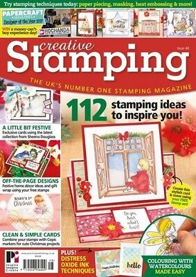 Creative Stamping Issue 48 + Free Wild Rose Away In A Manger 27 Piece Stamp Set