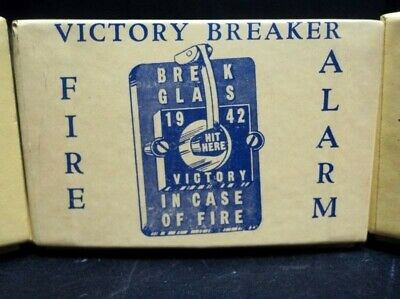 VINTAGE 1942  (LOT of 3 Boxes) * ( VICTORY BREAKER FIRE ALARM ) * BALTIMORE MD
